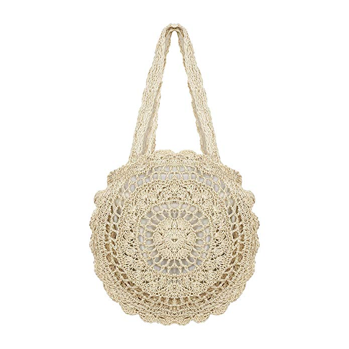 Bolso boho bordado blanco